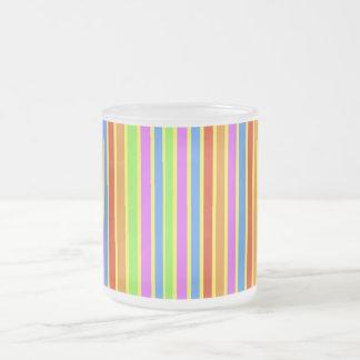 Vertical Stripes Frosted Mug