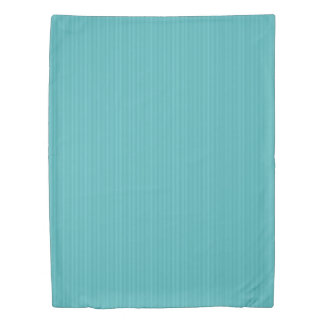 Vertical Stripes in Shades of Turquoise Duvet Cover