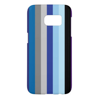 Vertical Stripes In Winter Colors Samsung Galaxy S7 Case