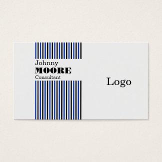 Vertical stripes lines modern minimal business card