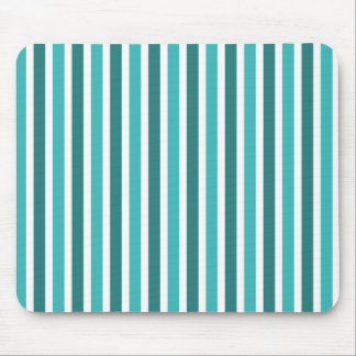 Vertical Stripes Mousepad, Turquoise Mouse Pad