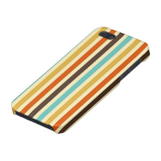 Vertical Stripes Retro Colors Blue Yellow Red Case For iPhone 5/5S