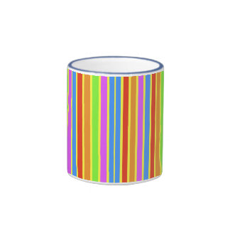 Vertical Stripes Ringer Mug