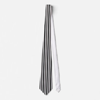 Vertical Stripes Tie, Black and Gray Tie