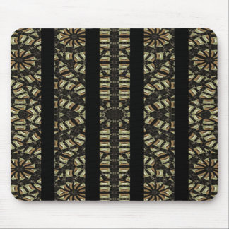 Vertical Stripes Tribal Print Mouse Pad