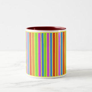 Vertical Stripes Two-Tone Mug
