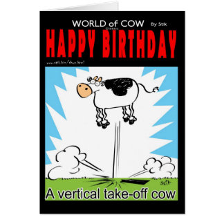 Vertical Take off cow Card