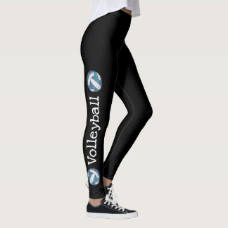 vertical text blue volleyball black leggings