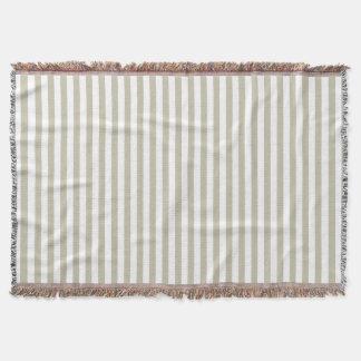 Vertical Tidal Foam Stripes Throw Blanket