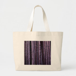 vertical tree lines large tote bag