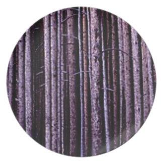 vertical tree lines plate