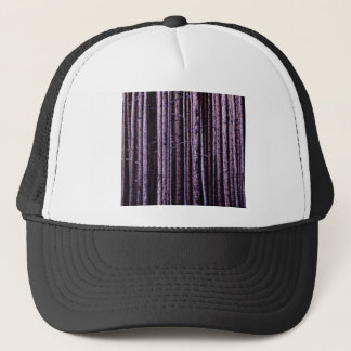 vertical tree lines trucker hat