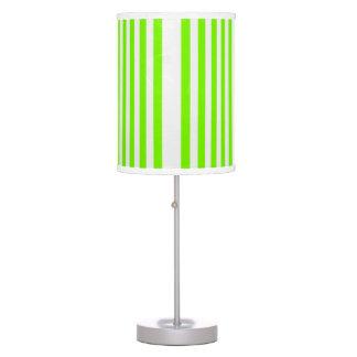Vertical White Stripes Design on Green Light Shade Desk Lamps