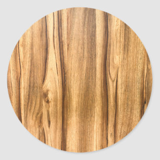 Vertical Wood Grain Pattern Classic Round Sticker