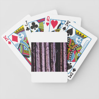 vertical wood lines bicycle playing cards