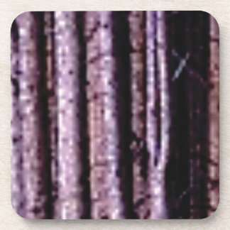 vertical wood lines coaster
