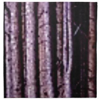 vertical wood lines napkin