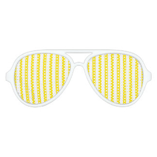 Vertical Yellow Stripes Aviator Sunglasses