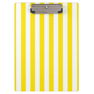 Vertical Yellow Stripes Clipboard