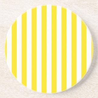 Vertical Yellow Stripes Coaster