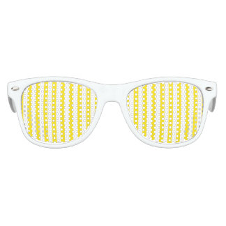 Vertical Yellow Stripes Kids Sunglasses