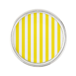 Vertical Yellow Stripes Lapel Pin