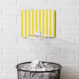 Vertical Yellow Stripes Mini Basketball Hoop