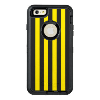 Vertical Yellow Stripes OtterBox Defender iPhone Case