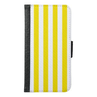 Vertical Yellow Stripes Samsung Galaxy S6 Wallet Case