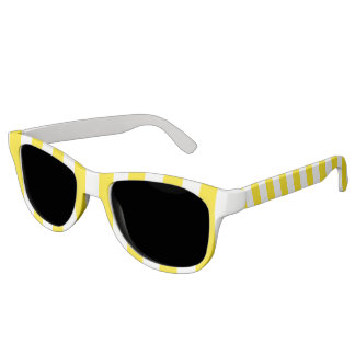 Vertical Yellow Stripes Sunglasses
