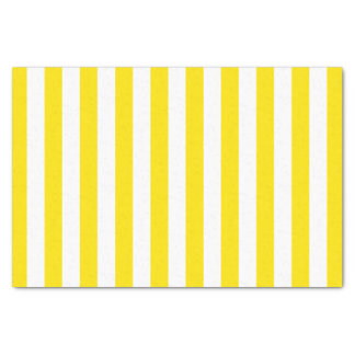 Vertical Yellow Stripes Tissue Paper