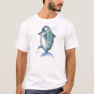 Verticle Blue Fish South Walton, Florida T-Shirt