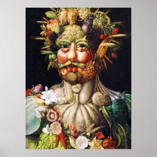 Vertumnus (Portrait of Rudolf II) by Arcimboldo Poster