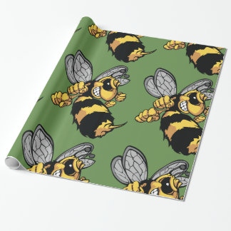 Very Angry Bee Glossy Wrapping Paper