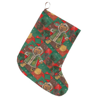 Very Beary Christmas Teddy Large Christmas Stocking