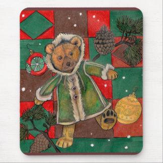 Very Beary Christmas Teddy Mouse Pad