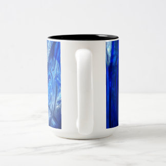 very beautiful bright blue design mug