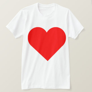 Very Big Red Heart Double Print Design T-Shirt