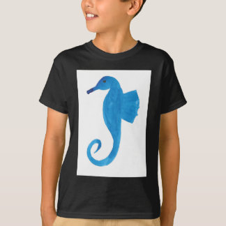 Very Blue Sea Horse T-Shirt