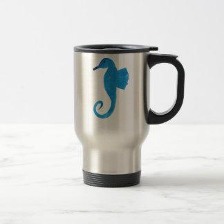 Very Blue Sea Horse Travel Mug