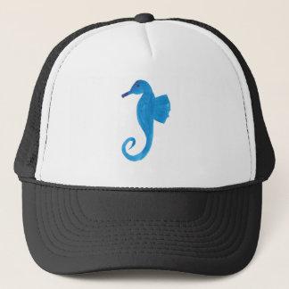 Very Blue Sea Horse Trucker Hat
