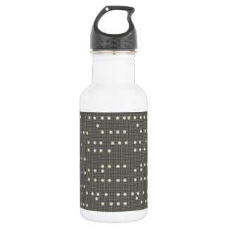 Very British graphic train and bus seat patterns 532 Ml Water Bottle