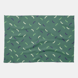 Very British graphic train and bus seat patterns Hand Towel