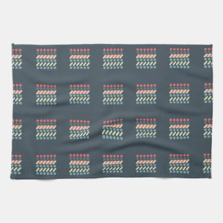 Very British graphic train and bus seat patterns Kitchen Towel