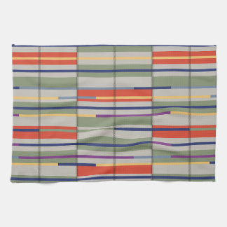 Very British graphic train and bus seat patterns Kitchen Towels