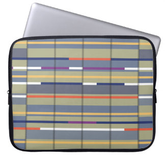 Very British graphic train and bus seat patterns Laptop Computer Sleeve