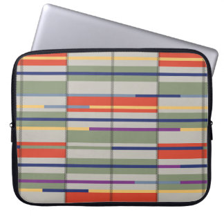 Very British graphic train and bus seat patterns Laptop Sleeves
