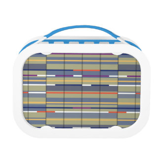 Very British graphic train and bus seat patterns Lunch Boxes