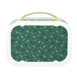 Very British graphic train and bus seat patterns Lunchbox