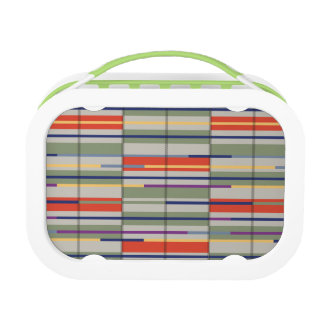 Very British graphic train and bus seat patterns Lunchboxes